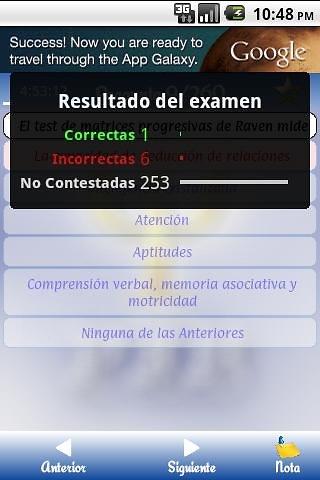 Pir examen - psicólogo