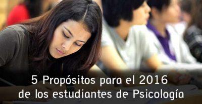 5 Propósitos para el 2016 de los estudiantes de Psicología