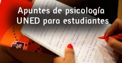 Lista apuntes de psicología UNED