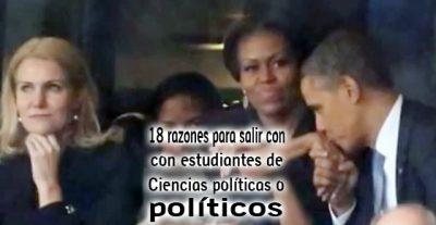 18 razones para salir con estudiantes de Ciencia Política o Políticos