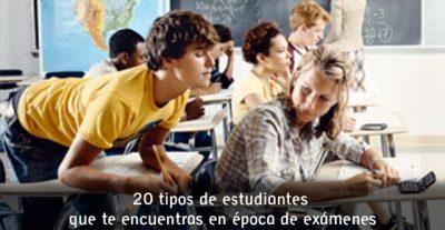 20 tipos de estudiantes que te encuentras en época de exámenes