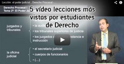 5 vídeo lecciones más vistas por estudiantes de derecho