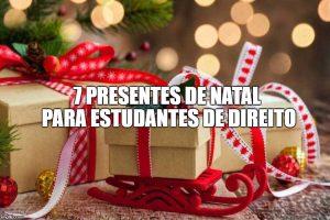 7 presentes de Natal para estudantes de direito