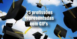 25 profissões representadas com GIF's